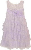 Isobella and Chloe Fairy Princess A Line Sleeveless Dress Lilac