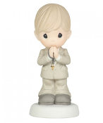 P.Moment Communion Boy Porcelain Figure