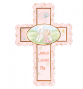 Jesus Loves Me - Girl Cross With Stand - Precious Moments