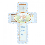Jesus Loves Me - Boy Cross With Stand - Precious Moments