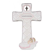 Baptized In His Name - Girl Cross With Easel Stand