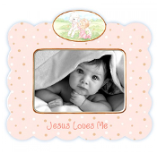 Jesus Loves Me - Girl Frame - Precious Moments