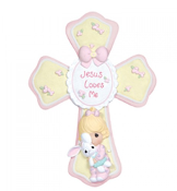 Jesus Loves Me - Girl Cross - Precious Moments
