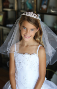 Communion Veil w/Tiara,Communion,Communion Dress,First Holy Communion,First Holy Communion Dress,First Holy COmmunion Suit,Communion ,