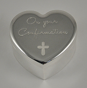 Silver Confirmation Heart Box