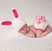 Baby Bunny Hat and Diaper Cover Set