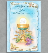GREETING CARD - Gods Blessings Son COMMUNION