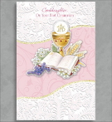 GREETING CARD - GODDAUGHTER ON YOUR COMMUNION