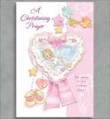 GREETING CARD - A CHRISTENING PRAYER (GIRL)
