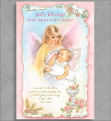 GREETING CARD - GOD'S BLESSINGS BAPTISM OF YOUR DAUGHTER