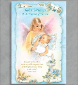 GREETING CARD - GOD'S BLESSINGS BAPTISM OF YOUR SON