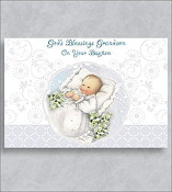 GREETING CARD - BAPTISM/GRANDSON