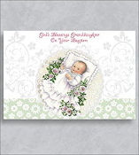 GREETING CARD - BAPTISM/GRANDDAUGHTER