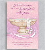 GREETING CARD - ON YOUR DAUGHTER'S BAPTISM