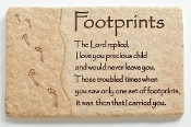 Footprints Wall Plaque