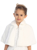 Plush Fur Cape with Collar