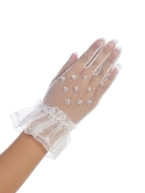 Sheer Gloves w/Beadwork,Communion,Communion Dress,First Holy Communion,First Holy Communion Dress,First Holy COmmunion Suit,Communion Suit Mississauga,Communion Dress Mississauga,Communion