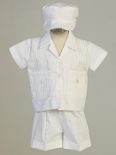 Poly cotton pintuck shirt and shorts-Daniel
