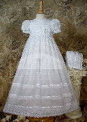 "30"" Cotton Batiste Gown with Cluny Trim"