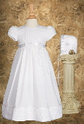 "23"" Cotton Christening Dress w/lace"