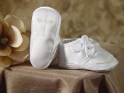 Boys Satin Shoe with Celtic Cross