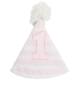 Rufflebutts Pink Stripe Birthday Hat,1st birthday outfit,first birthday outfit,outfit for 1st birthdy,outfit for first birthday,1st birthday party outfit,outfit for my daughters 1st birthday,birthday gift,first birthday gift,1st birthday gift