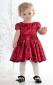 Baby Biscotti Deck the Halls Infant Dress Red
