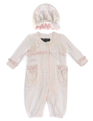 Isobella and Chloe Sarah Jane Romper & Hat Set