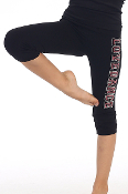 "Kids ""Love Dance"" Capri Leggings Black"