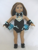 "18"" Doll Black/Turquoize Jazz Outfit"