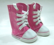 "18"" Doll Pink Lace up Boots"