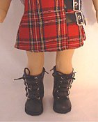 "18"" Doll Black Buckle Boots"