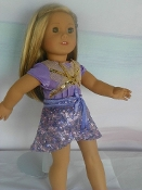 "18"" Doll Isabelle's Purple Dance Skirt"