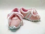 "18"" Doll White and Pink Tennis Shoes"