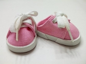 "18"" Doll Pink Canvas Mules"