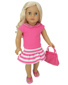"18"" Doll Pink Shirt w/Sparkle Collar"