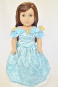 "18"" Doll Cinderella Dress w/Butterflies"