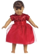 "18"" Doll Sequins with Tulle Dress"