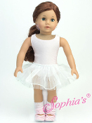 "18"" Doll Pink Ballet Leotard/Tutu/Legwarmers/Headband Set"