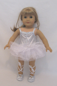 "18"" Doll Silver Ballet Costume"