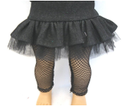 "18"" Doll Black Denim Skirt w/Tulle"