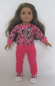 "18"" Doll Hot Pink Skinny Jeans"