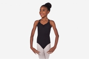 "Sansha ""Leilani"" Black Sleeveless Leotard"