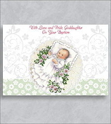 GREETING CARD - God's Blessings Goddaughter..Baptism