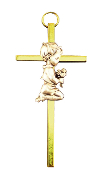 Praying Boy Metal Wall Cross