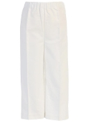 Boy's White Long Cotton Pants