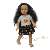 "18"" Doll ""Emoji"" Dress,american doll"