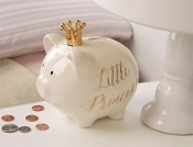 Mudpie Crown Princess Piggy Bank