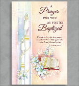 GREETING CARD - A CHRISTENING PRAYER (BOY)
