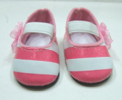 "18"" Doll Pink Sparkle Pink and White Shoes"